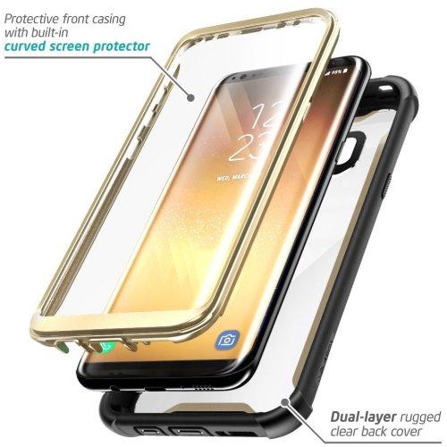 pretty nice 24562 37f48 Samsung Galaxy S8+ Plus case, i-Blason Full-body Rugged Clear Bumper Case  with Built-in Screen Protector for Samsung Galaxy S8+ Plus 2017 Release...