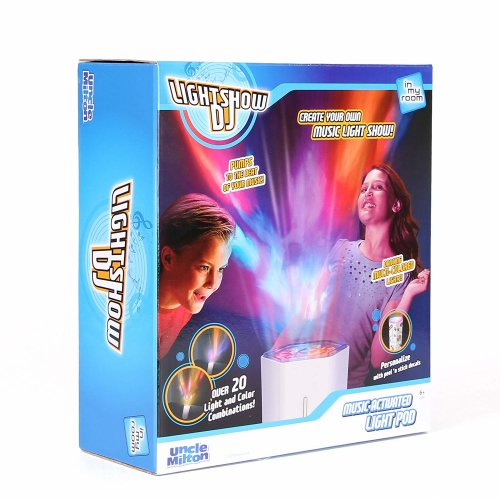 DJ light show music sound activated party light projector by Uncle Milton