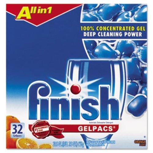 Reckitt Benckiser 81053 Dish Detergent Gel Packs, Orange, 32-Box