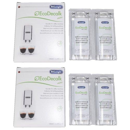Delonghi entkalker descaler for coffee machines 4 x 100ML bottles
