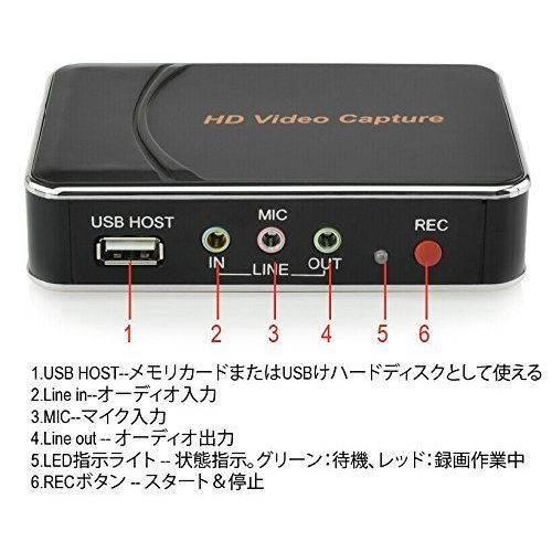Digitnow! Game Capture HD Video Capture 1080P HDMI/YPBPR Recorder for Xbox 360&One/ PS3 PS4 - The HDMI Pass-Through Function Guarantees Smooth HD