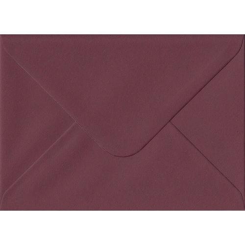 "Bordeaux Red Gummed 5""x7"" Coloured Red Envelopes. 120gsm GF Smith Colorplan Paper. 133mm x 184mm. Banker Style Envelope."