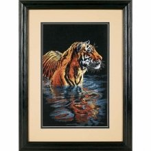 D35222 - Dimensions Counted X Stitch - Tiger Chilling out