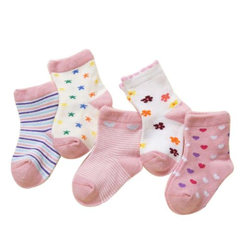 5 Pairs Of Baby Socks Baby Warm Cotton Socks For 1-3 Years Old