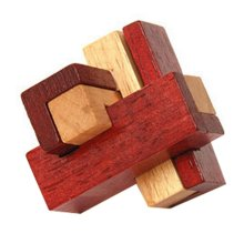 2 PCS Challenging Wood Brain Teaser Puzzle Disentanglement Puzzles, Style 8