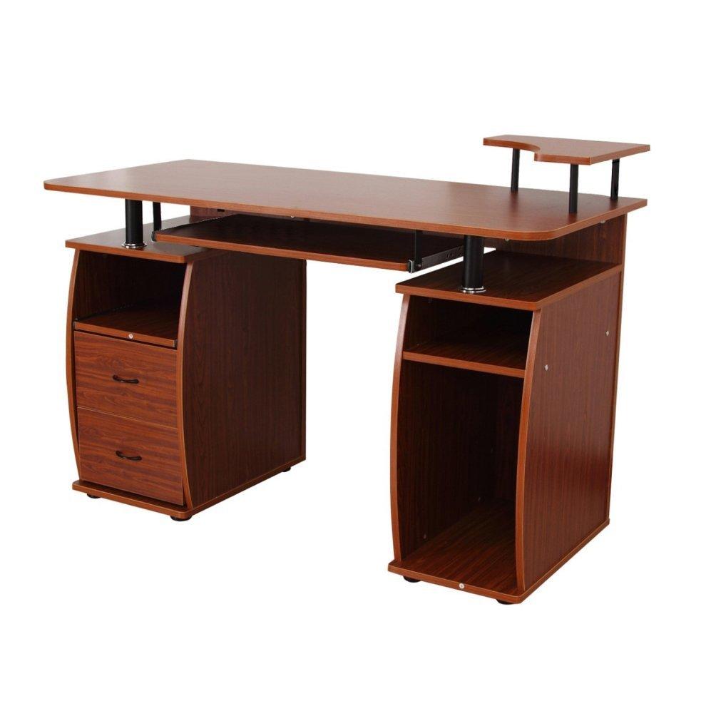 Homcom wooden office desk desktop computer workstation on onbuy