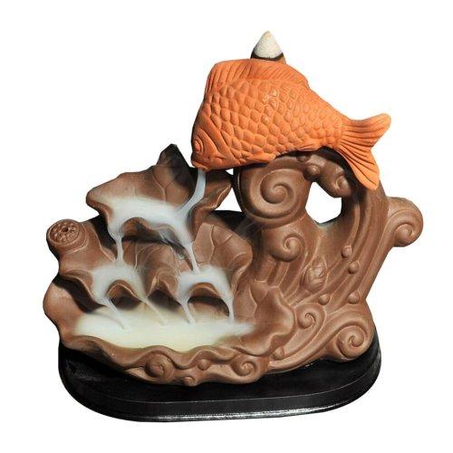 Ceramic Censer Backflow Incense Cones Holder Burner