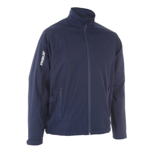 ProQuip Golf Mens Aquastorm PX1 Waterproof Rain Jacket Full Zip Navy Medium