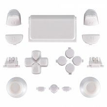 ZedLabz full replacement button set mod kit for 2nd gen Sony PS4 JDM-030 controllers - white