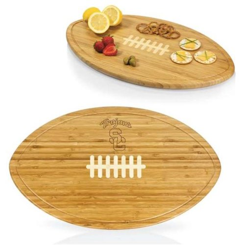 Picnic Time 908-00-505-093-0 University of Southern California Trojans Engraved Cutting Board Party Platter & Serving Tray, Natural