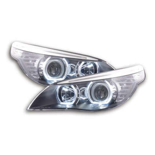 Angel Eye headlight LED BMW serie 5 E60/E61 Year 2003-2006 black