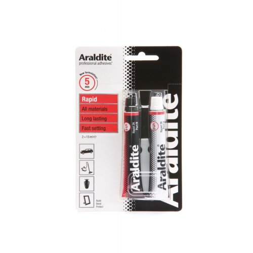 15ml Pack Of 2 Araldite Rapid Epoxy Tubes - Strong Adhesive Glue -  rapid araldite tubes 2 15ml epoxy strong adhesive glue