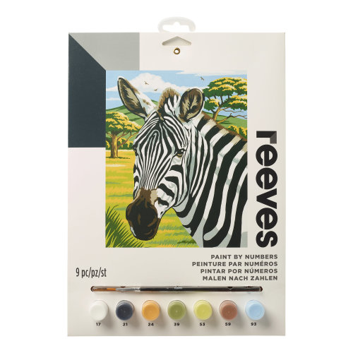 Reeves Painting By Numbers-African Zebras
