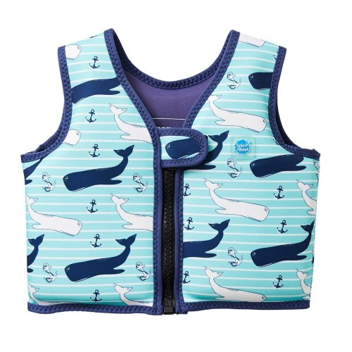 Splash About Kids Go Splash Swim Vest, Blue (Vintage Moby),1 - 2 Years