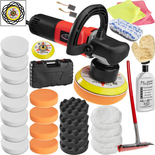 Dual action polisher 710W + 29 piece polishing set