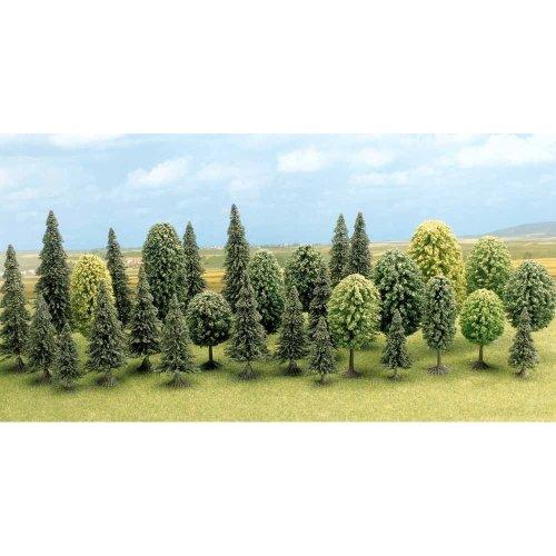 N/TT Mixed Forest Trees - Busch 6589