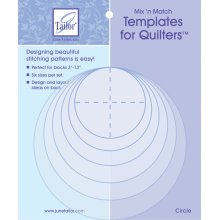 June Tailor Mix'n Match Templates For Quilters 6/Pkg-Circle