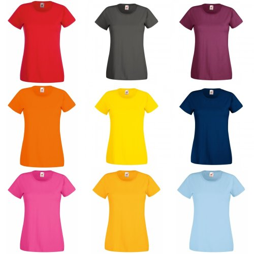 Fruit Of The Loom Ladies/Womens Lady-Fit Valueweight Short Sleeve T-Shirt