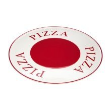 Hollywood Pizza Plate, Red & Cream