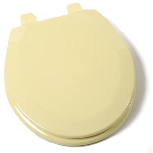 Jones Stephen C1B4R2-50 Deluxe Molded Round Wood Toilet Seat with Closed Front- Citron Yellow