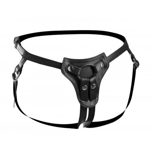 Premium All Access Leather Strap On Harness  BDSM Bondage - Strict Leather