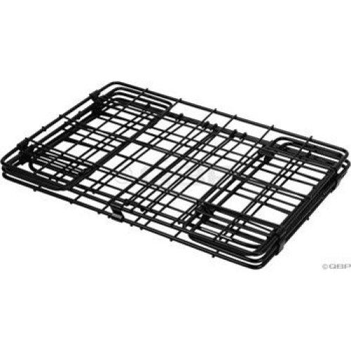 Wald 582 Folding Bicycle Rear Rack Grocery Baskets Set Of 2 Black