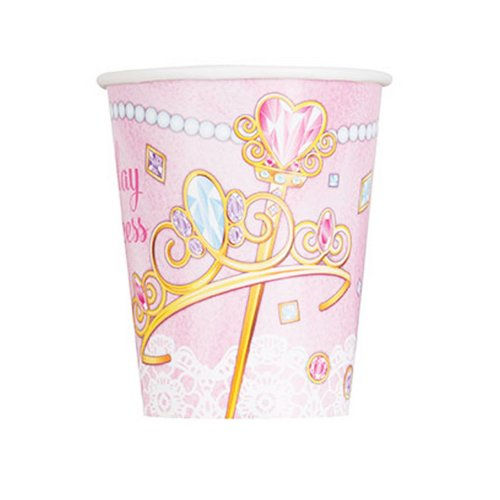 Unique Party Birthday Princess Disposable Cups (Pack Of 8)