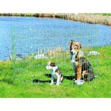Trixie 3954 Outdoor Run For Puppies Galvanised 61 × 91cm - Welpenfreilauf -  trixie welpenfreilauf zincplated new 3954 outdoor run puppies galvanised