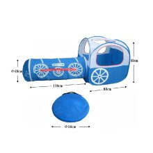 Cute Train Kids Indoor/Outdoor Play Tent with Tunnel(Under 3 Years Old, Blue)