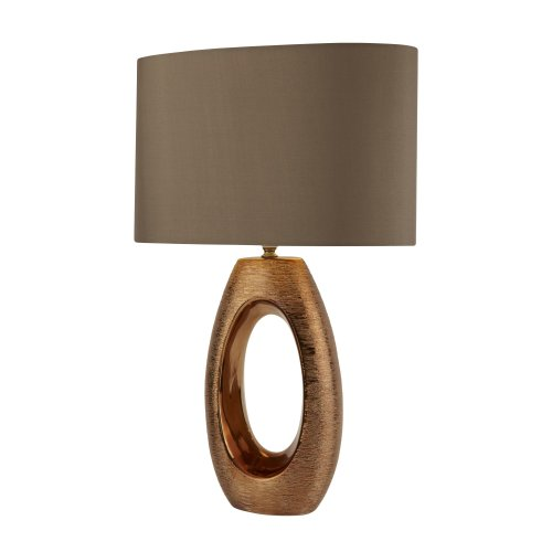 Searchlight Artisan 1 Light Bronze Oval Base Table Lamp
