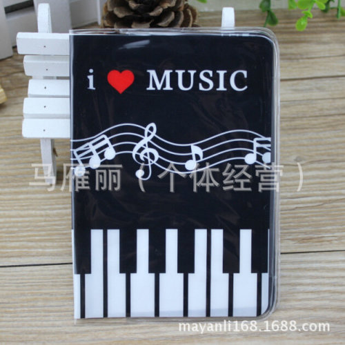 I Love Music Piano Keyboard With Music Notes Passport Cover