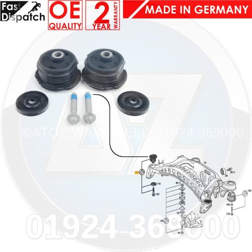 FOR MERCEDES E-CLASS W210 S210 97-03 REAR AXLE SUBFRAME HUB FRONT BUSH BUSHING
