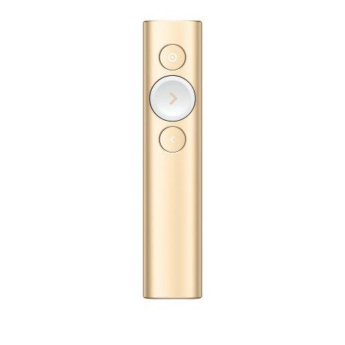 Logitech Spotlight Bluetooth/RF Gold wireless presenter