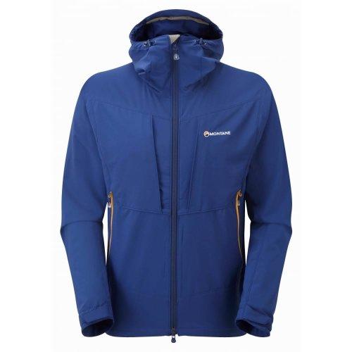 Montane Mens Dyno Stretch Jacket Antartic Blue (Large)