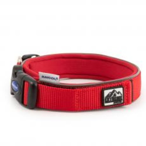 Extreme Nylon Padded Collar Red Size 6 46-54cm