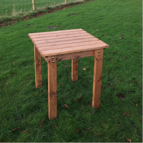 Hand Made Chunky Rustic Wooden Garden Bistro Table Furniture