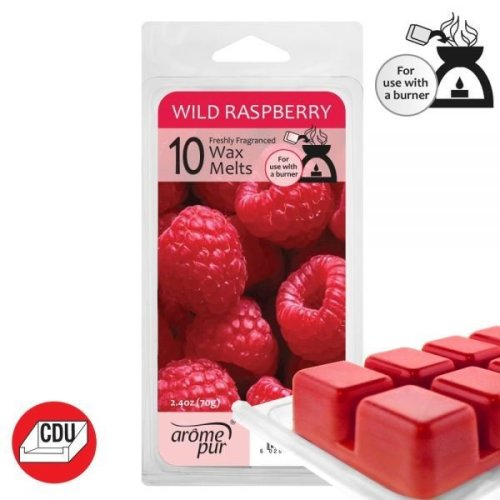 Arome Pur Wild Raspberry Scented Wax Melts 10 Cubes For Burner