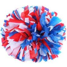 2 PCS Team Sports Cheerleading Poms Match Pom Plastic Ring Colorful-01