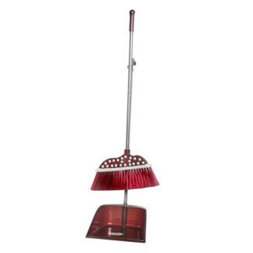 Durable Removable Broom and Dustpan Standing Upright Grips Sweep Set with Long Handle, #C10