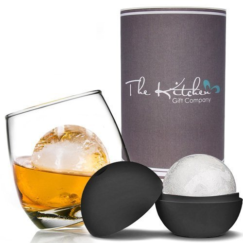 Rocking Whiskey Glass & Mega Ice Ball Gift Set | Whiskey Glass Set