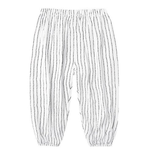Comfortable Soft Children's Trousers, Black And White Stripes
