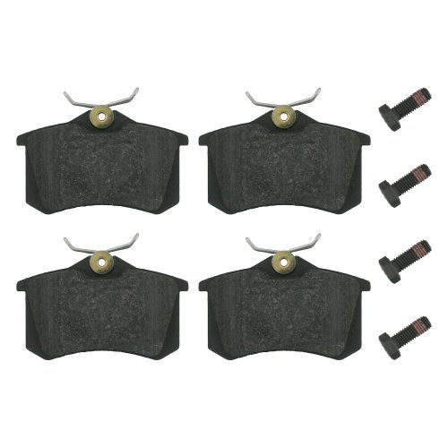 febi bilstein 16344 brake pads with screws (Set of 4) (rear axle)