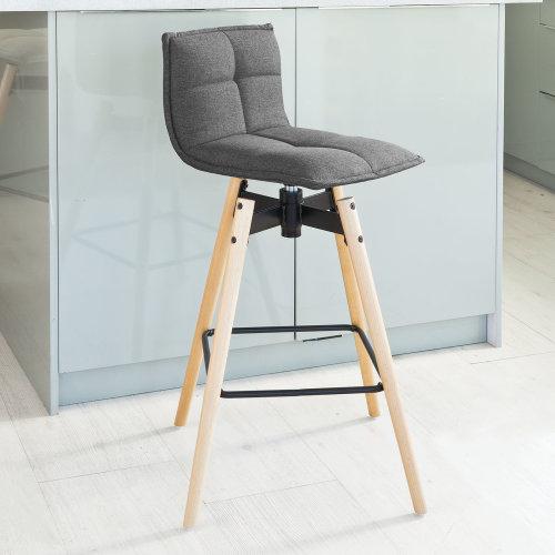 designer fashion 64127 25f2d SoBuy® FST45-DG, 360° Rotating Swivel Kitchen Breakfast Barstool