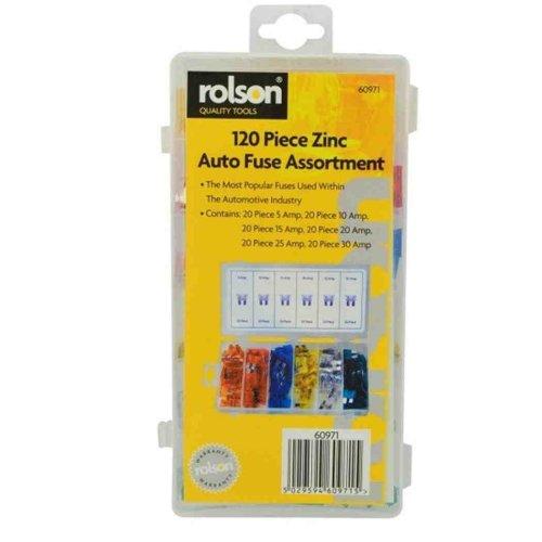 Fuse Assortment 120 Pieces Auto Car Standard Blade Type Case Assorted