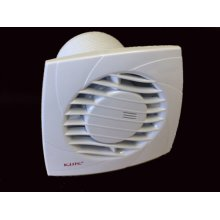 White Extractor Timer Fan-Wall Mounted High Flow Bathroom, Ventilation