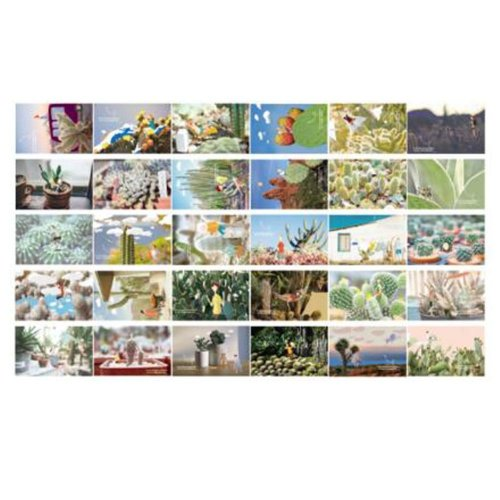30PCS 1 Set Creative Postcards Artistic Beautiful Postcards, Juvenile Wind