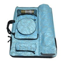 Camouflage Sketching Bag Art Supplies Holder Painting Accessory Organizer-Blue