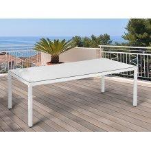 Garden Table - Outdoor Dining Table - Rattan - 220 cm - White - ITALY