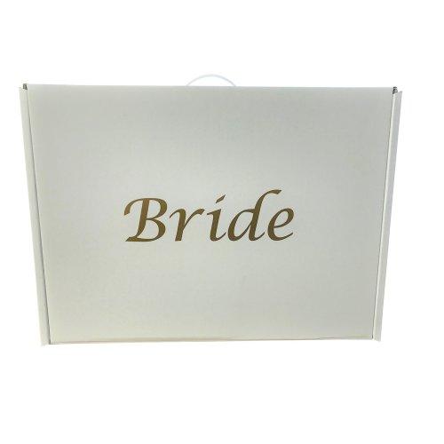 "Wedding dress travel / storage box Plain or ""Bride"" PH neutral"