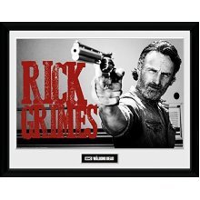 Gb Eye Ltd Walking Dead, Rick Grimes, Framed Print 30x40cm, Wood, Various, 52 x -  walking dead framed print poster rick daryl negan zombies maggie